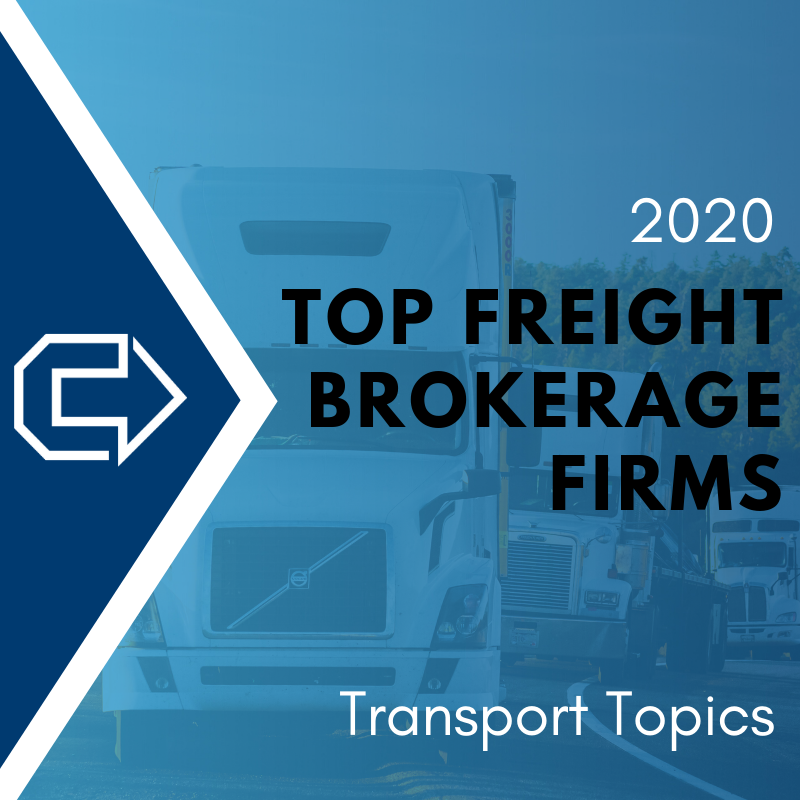 "Cornerstone Systems Named to Transport Topics ""2020 Top Freight Brokerage Firms"" List"
